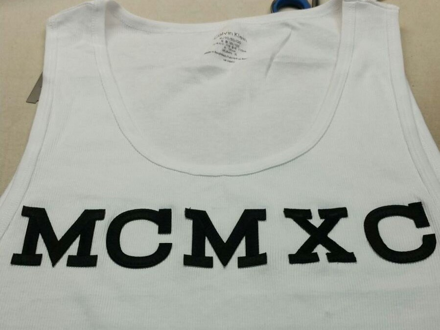 Want letters on your T-shirt?
