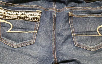 Older pair of jeans – We can revamp it