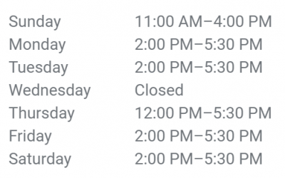 COVID-19 Re-opening Hours